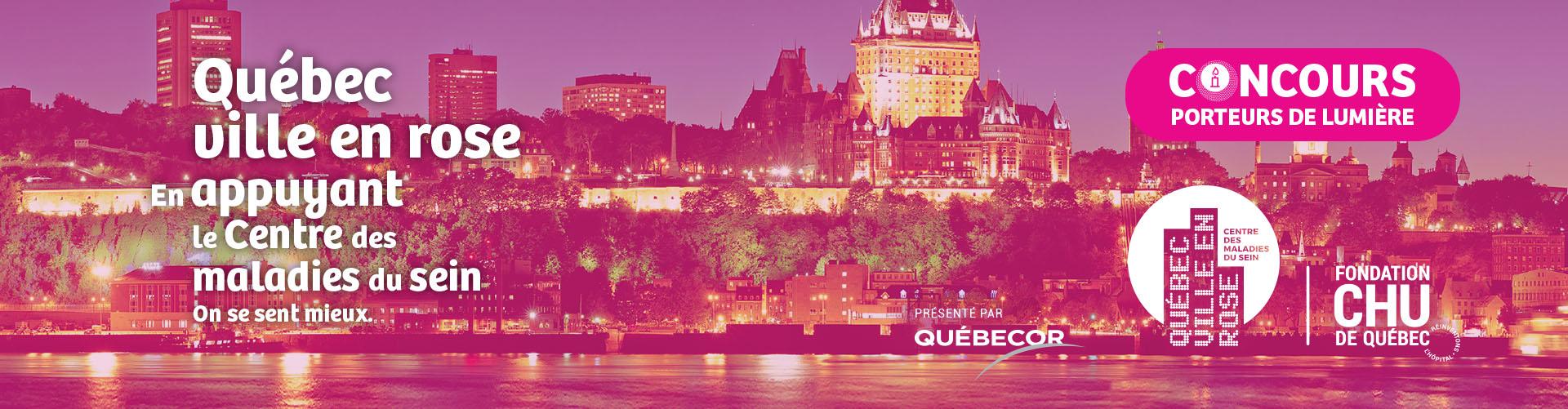 Bandeau Québec ville en rose