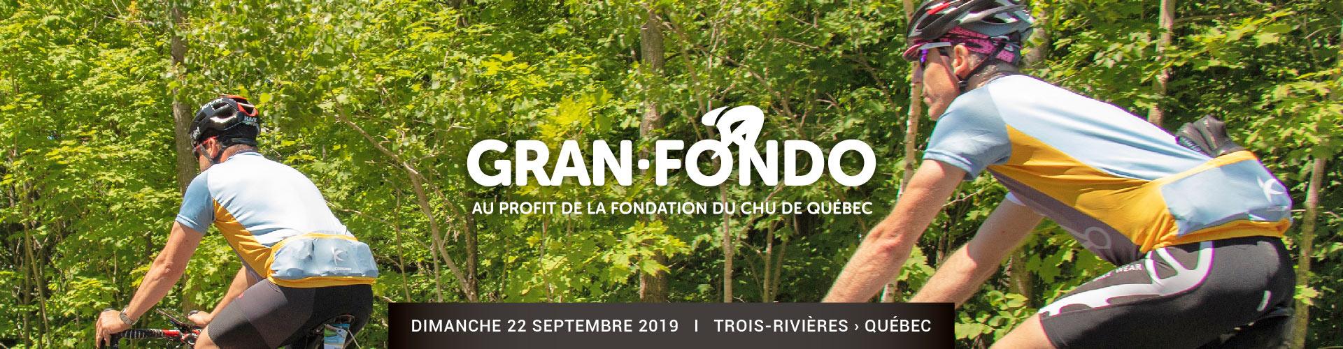 Bandeau Gran Fondo Éco de la Fondation du CHU de Québec