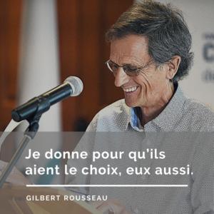 Gilbert Rousseau citation