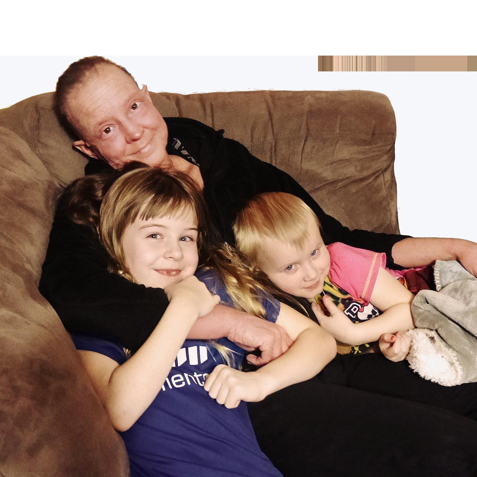 Lyne Bouchard et ses filles